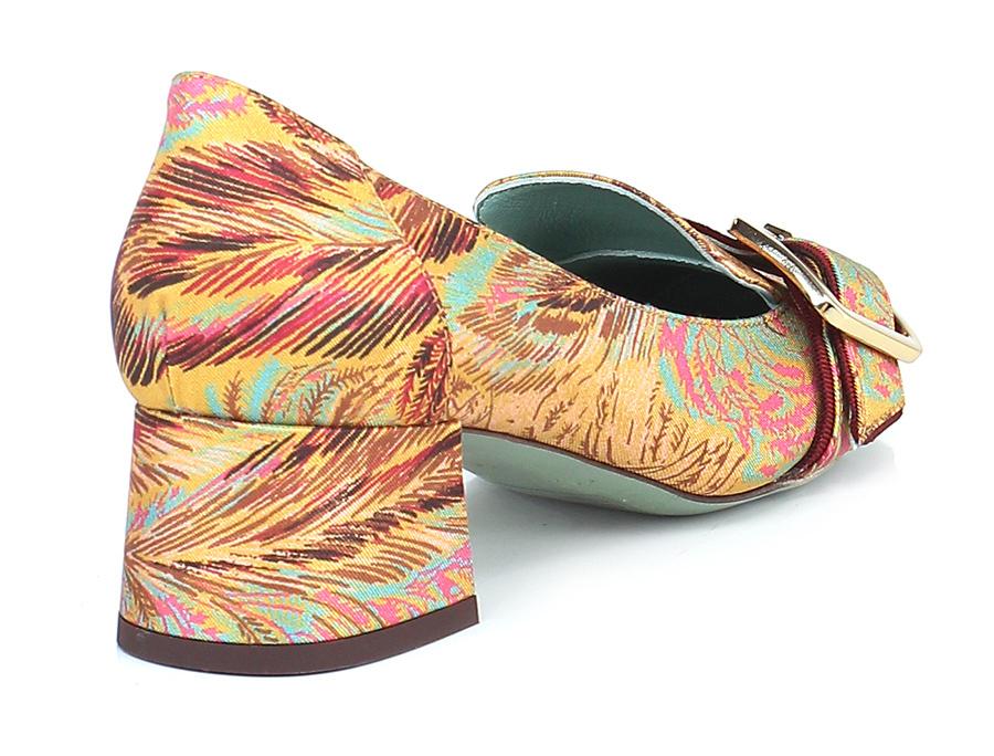 Scarpa tacco con tacco Scarpa Ocra/multicolor Paola D'arcano 45d3be