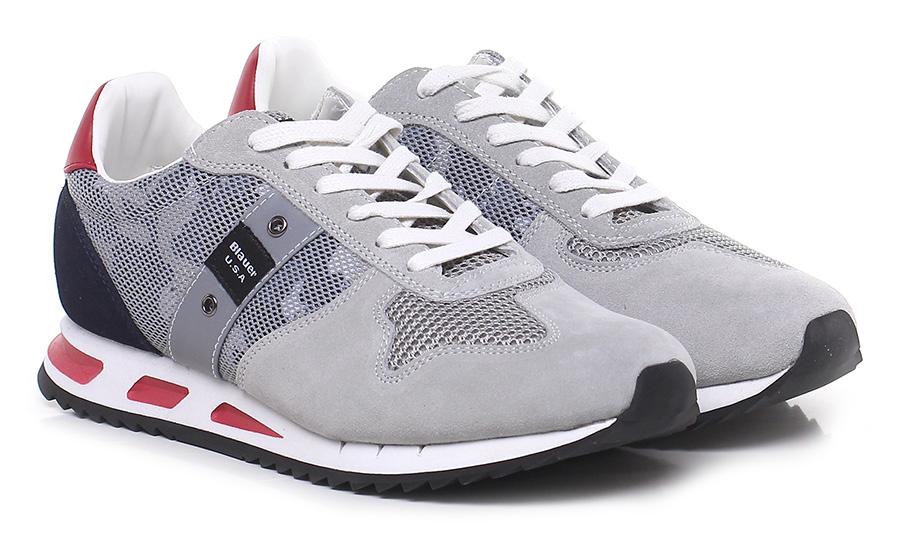 Sneaker Ice/black/red Blauer Verschleißfeste billige Schuhe