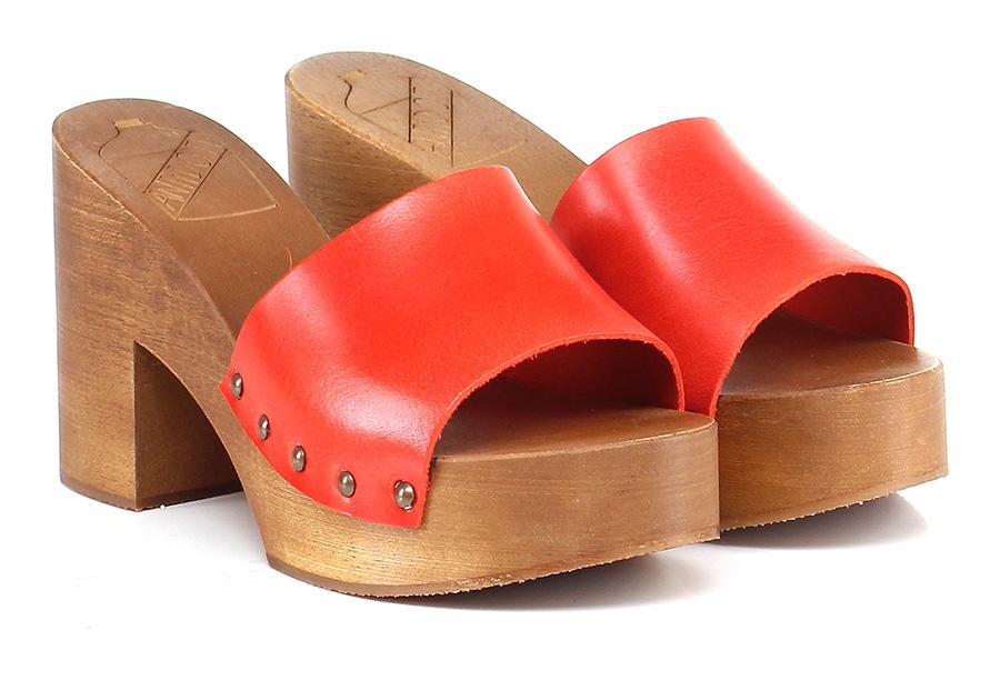 Sandalo alto Rosso Antidoti Mode billige Schuhe