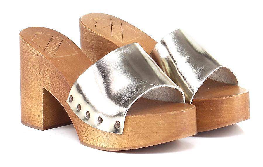 Sandalo alto  Oro Antidoti Mode billige Schuhe