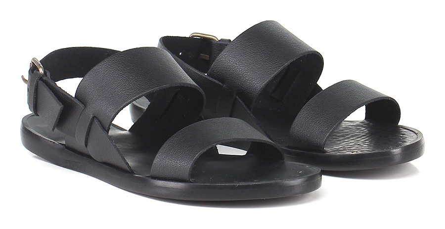 Sandalo basso Nero Marlin Factory