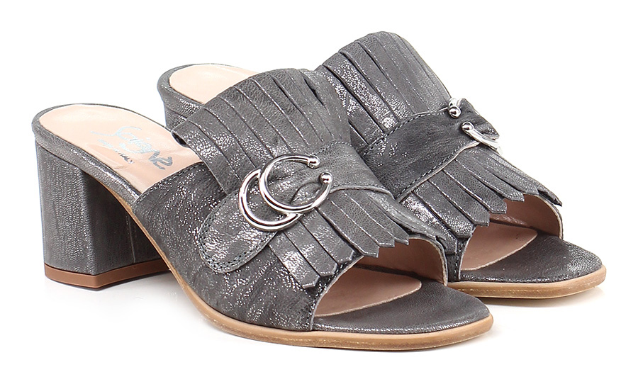 Sandalo alto  Piombo Soigne'