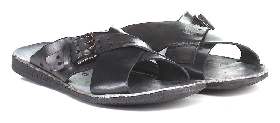 Sandalo basso Nero Brador Verschleißfeste billige Schuhe