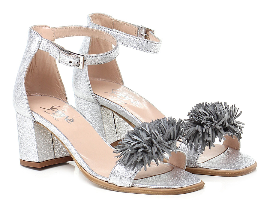 Sandalo alto Argento Soigne' Verschleißfeste billige Schuhe