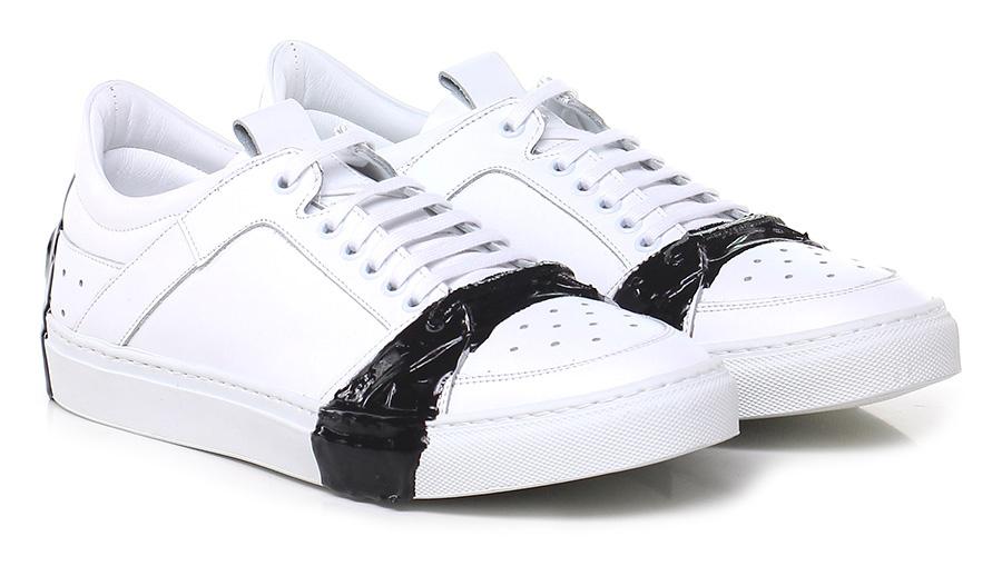 Sneaker Bianco/nero Attimonelli's Verschleißfeste billige Schuhe