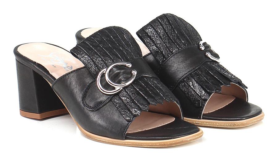 Sandalo alto Nero Soigne' Verschleißfeste billige Schuhe