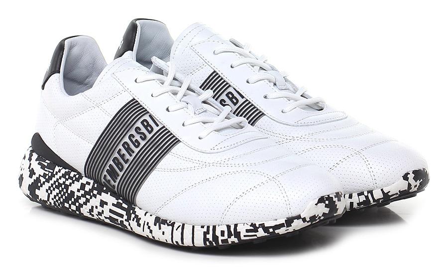 Sneaker White/black Bikkembergs Verschleißfeste billige Schuhe
