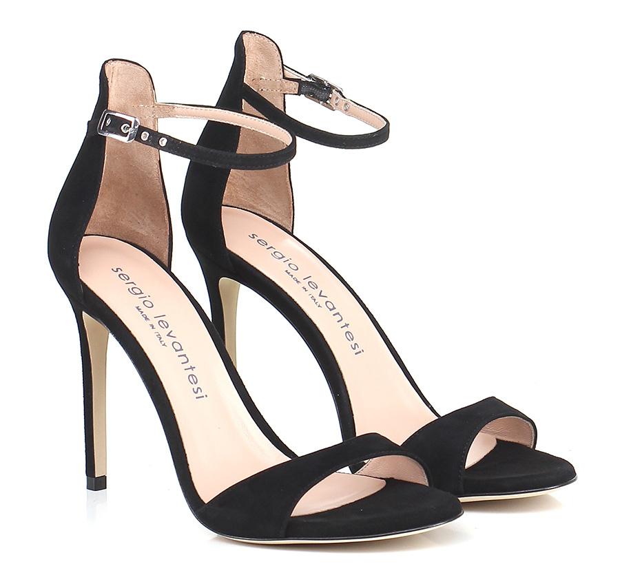 Sandalo alto Nero Sergio Levantesi