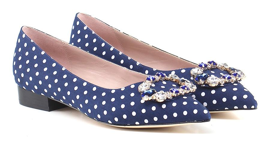 Scarpa bassa Blu/bianco Gisele Paris