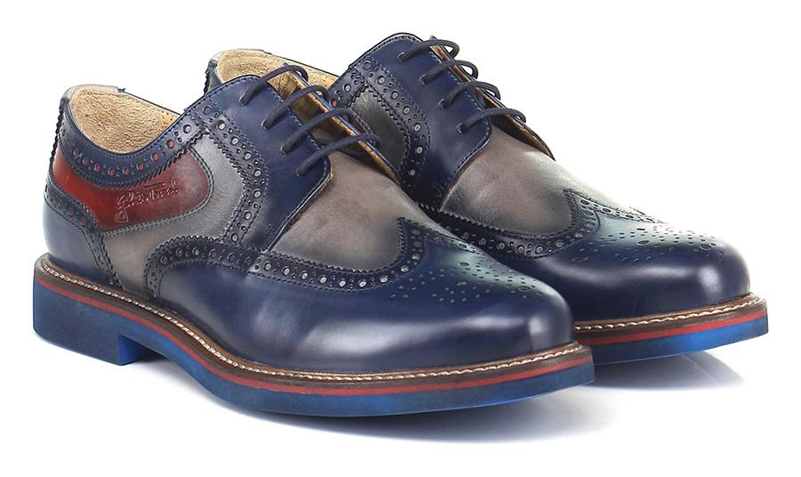 Stringata Blu/fumo/rosso Galizio Torresi Verschleißfeste billige Schuhe