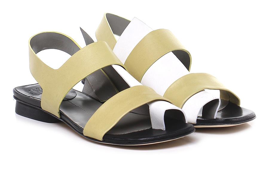 Sandalo basso  Lime/bianco Ixos Mode billige Schuhe