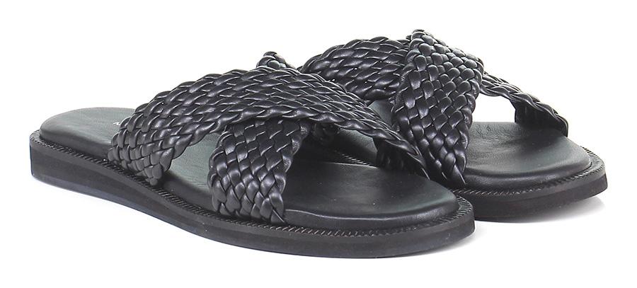 Sandalo Makris basso Black Makris Sandalo Mode billige Schuhe 054413