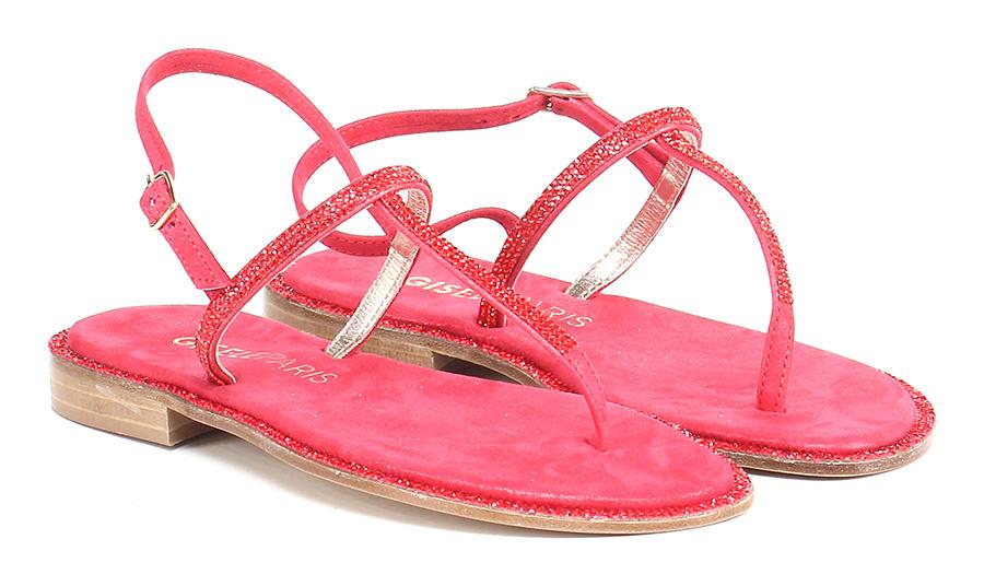 Sandalo basso Rosso Gisele Paris Hohe Qualität
