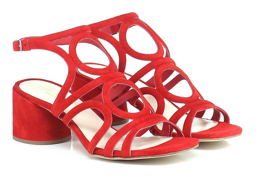 Sandalo alto  Rosso Miss Martina