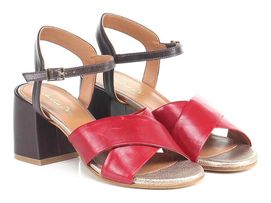 Sandalo alto  Rosso/t.moro Julie Dee