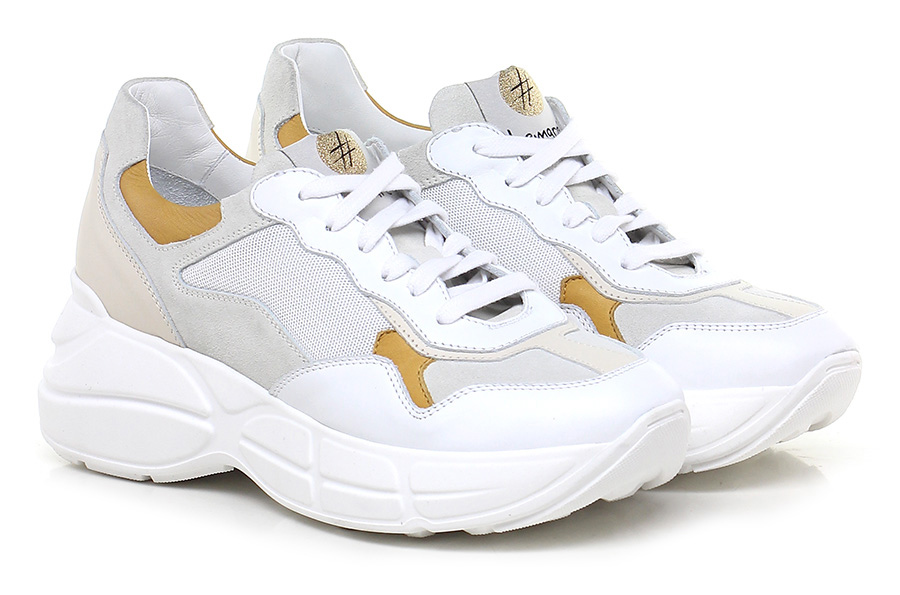 Sneaker Bianco/ocra Lemare' Lemare' Lemare' Mode billige Schuhe f00b00