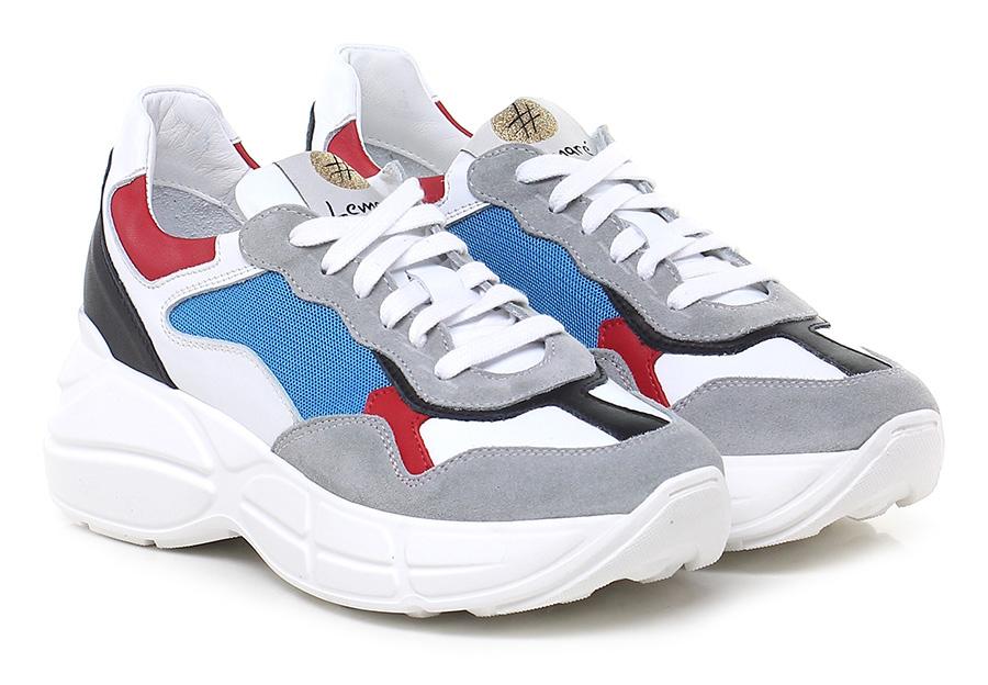 Sneaker Grigio/bianco/bluette Lemare' Mode billige billige billige Schuhe 27f9ff