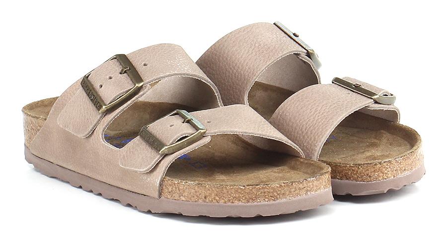 Sandalo basso Taupe Birkenstock Mode billige Schuhe