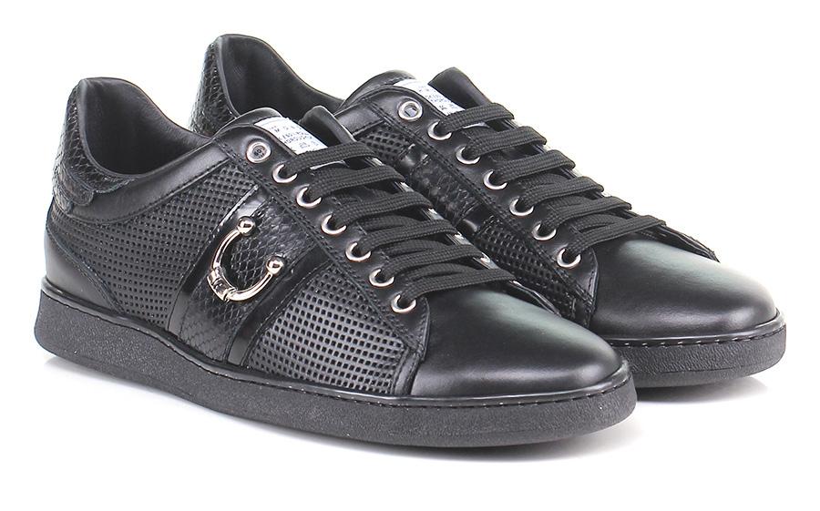 Sneaker Black John Richmond Mode billige Schuhe