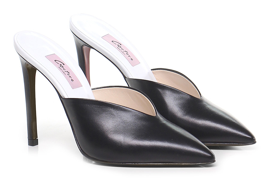 Sandalo alto Nero Couture Verschleißfeste billige Schuhe