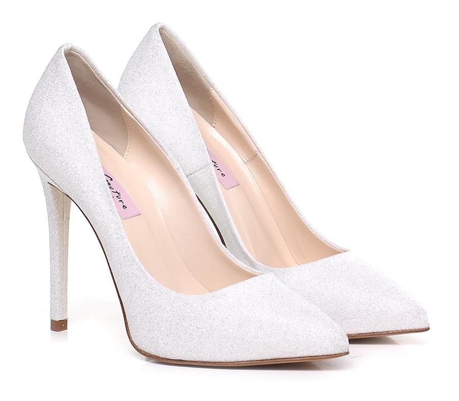 Decolletè Bianco Couture Verschleißfeste billige Schuhe