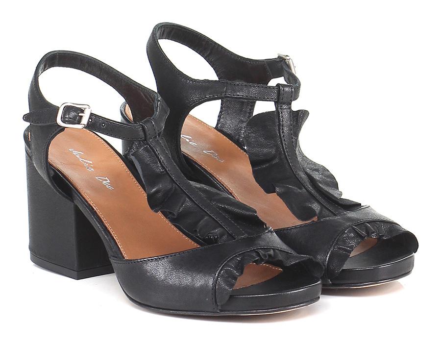 Sandalo alto Nero Julie Dee Hohe Qualität
