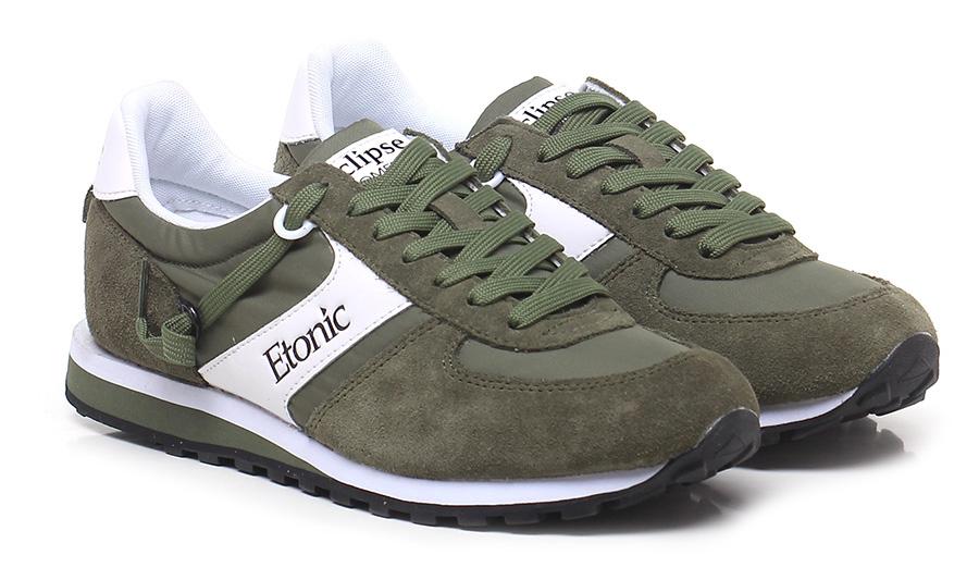 Sneaker Military/white Etonic Verschleißfeste billige Schuhe