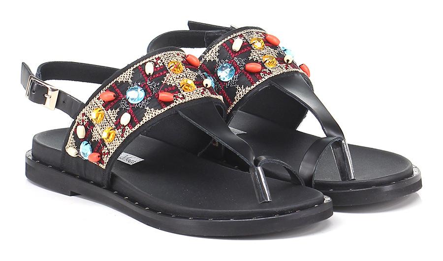Sandalo basso basso Sandalo Nero Tosca Blu Shoes 436b0b