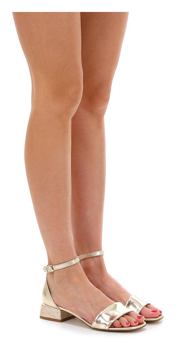 Sandalo alto  Platino Tosca Blu Shoes