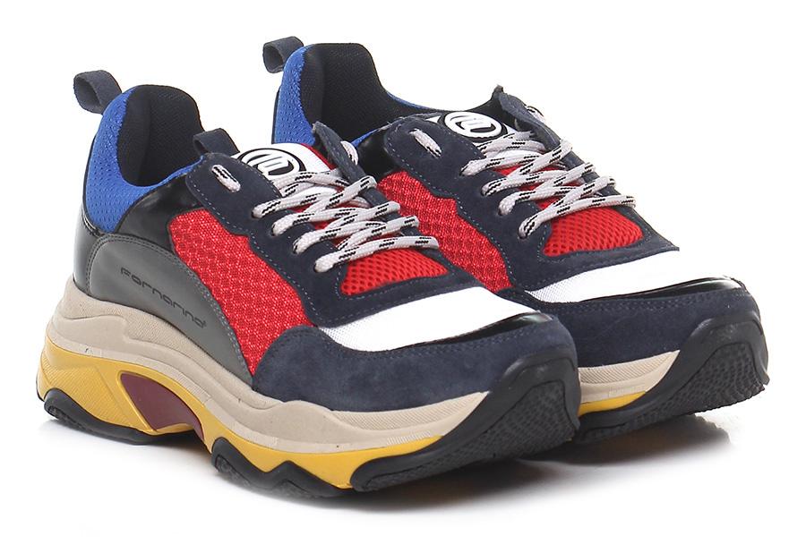 Sneaker Notte/rosso/azzurro Fornarina