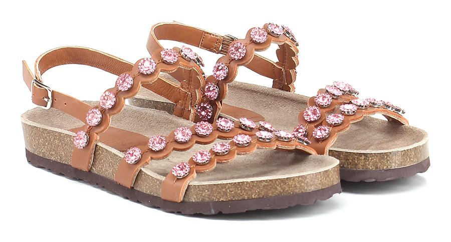 Sandalo basso Leather/pink Rebecca White Hohe Qualität