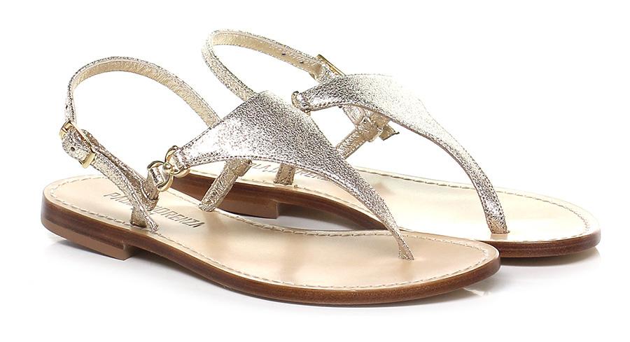 Sandalo basso Oro Paola Fiorenza Mode billige Schuhe