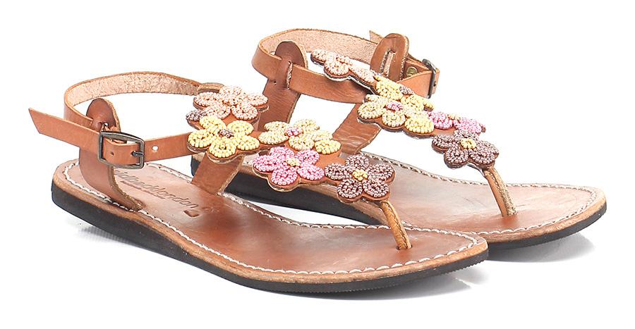 Sandalo basso Pink/yellow Laidback London Mode billige Schuhe