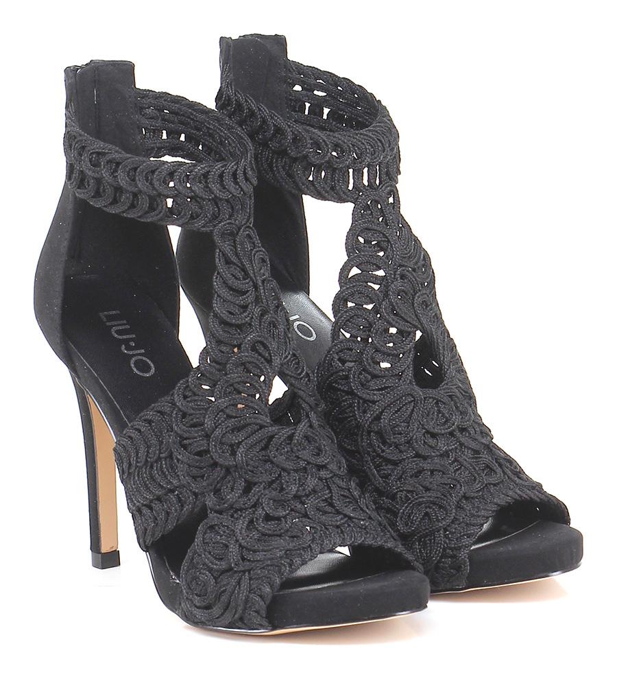 Sandalo alto Nero Liu.jo Verschleißfeste billige Schuhe