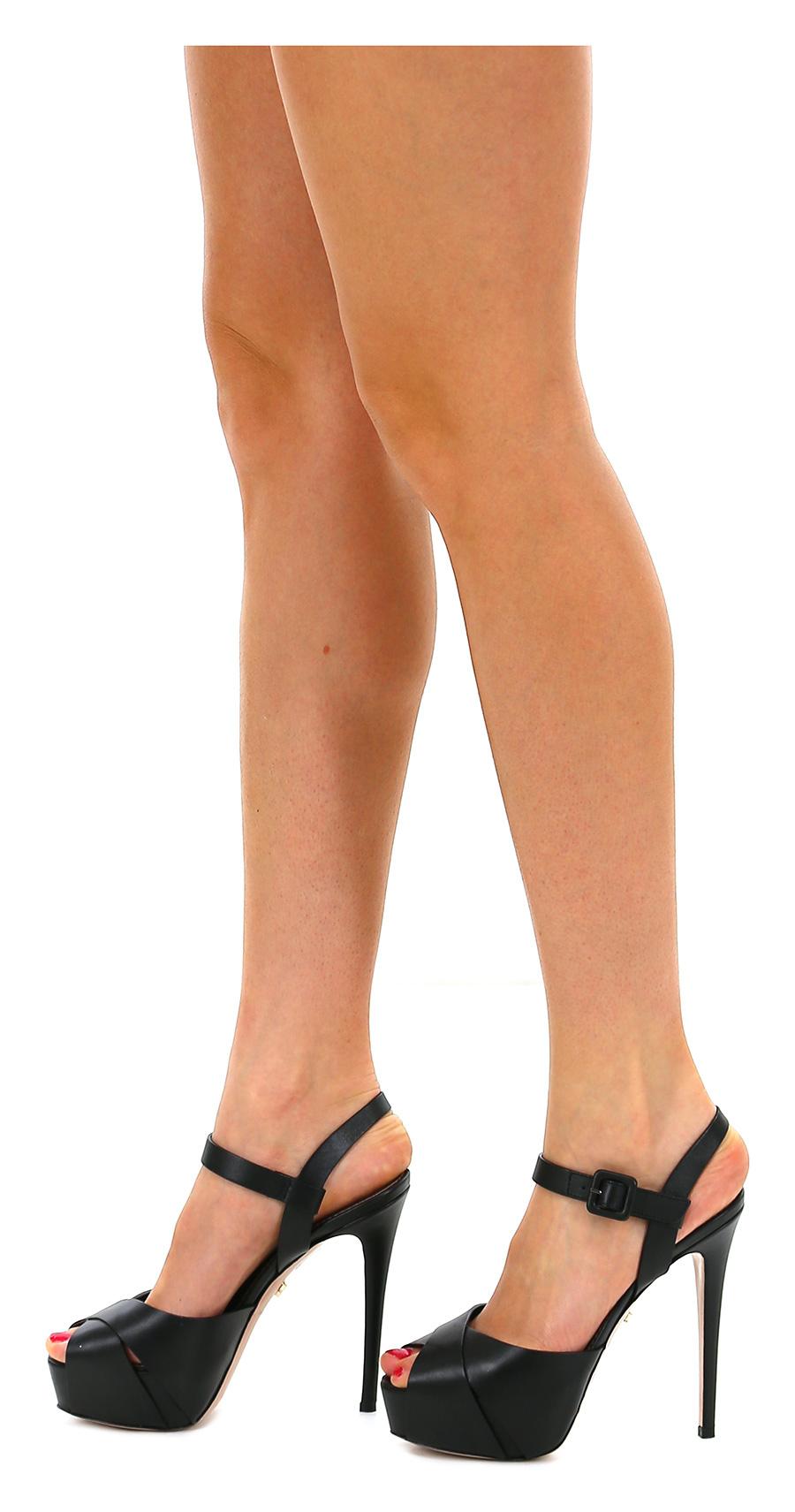 Sandalo alto alto alto Nero Le Silla 248114