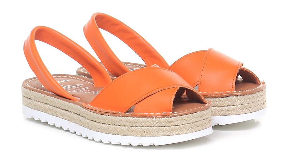 Sandalo basso Arancione Avarca by C. Ortuno