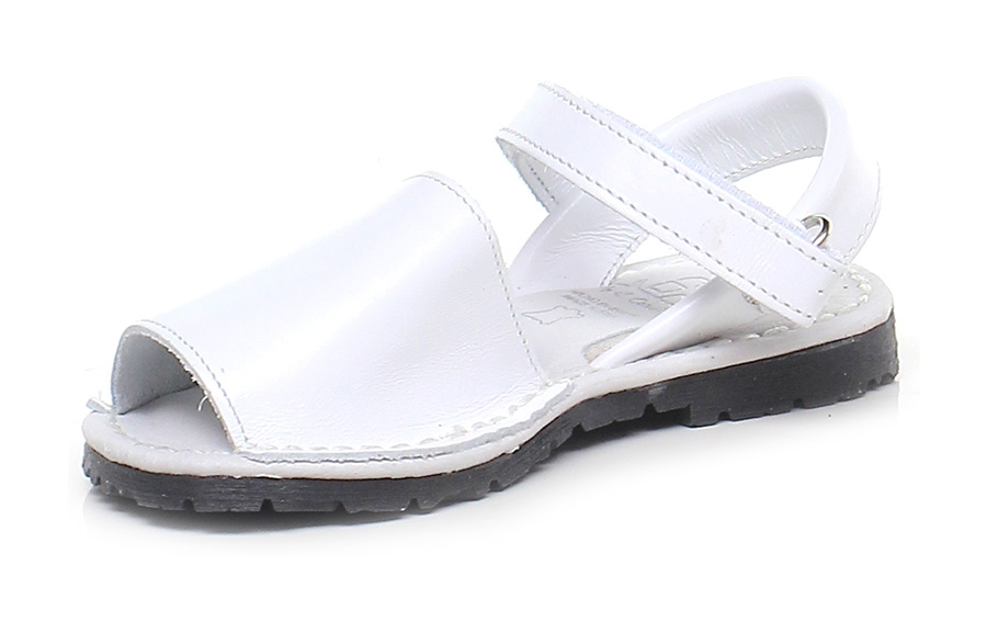 Sandalo Avarca basso - bambina Bianco Avarca Sandalo by C. Ortuno a2ada1