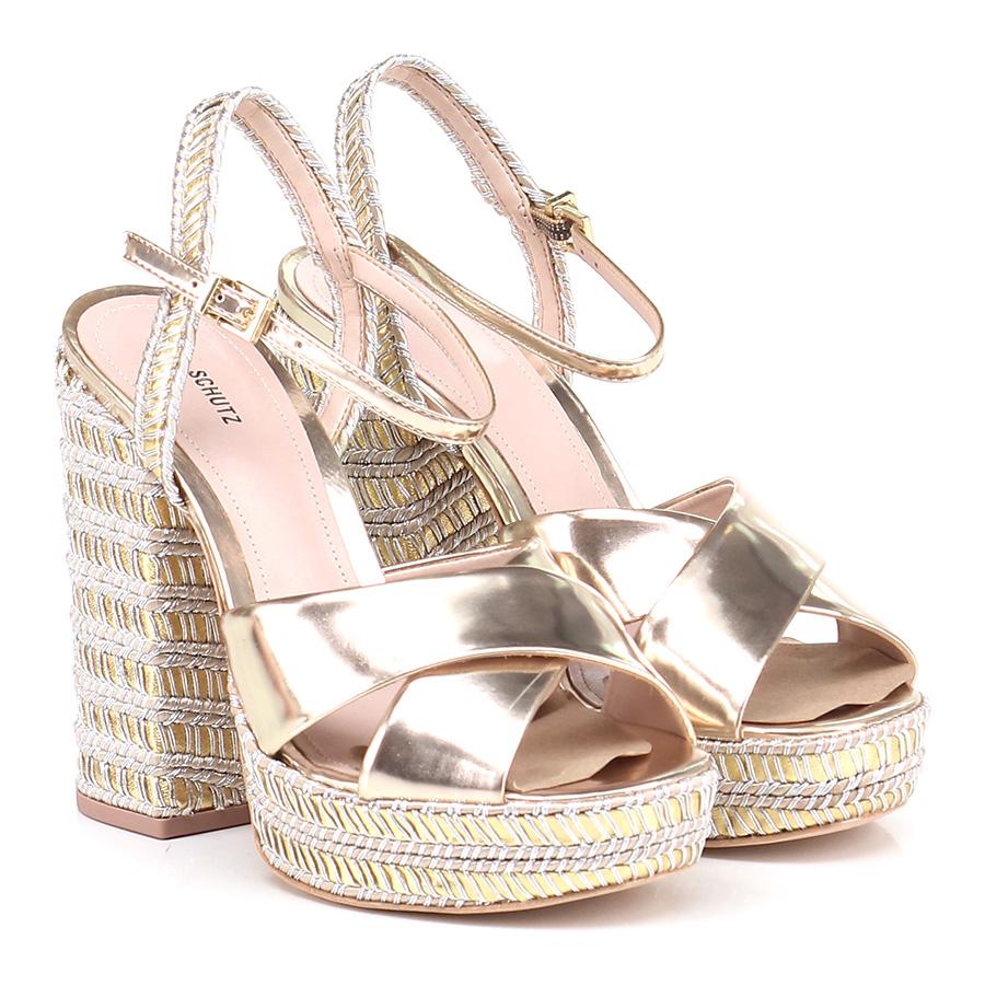 Sandalo alto  Platinum/yellow Schutz