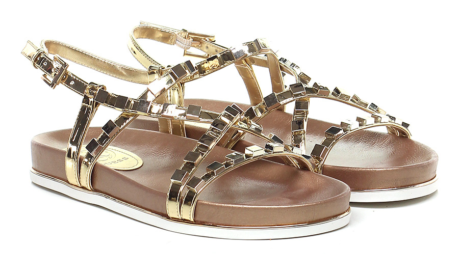 Sandalo basso Gold Guess Verschleißfeste billige Schuhe