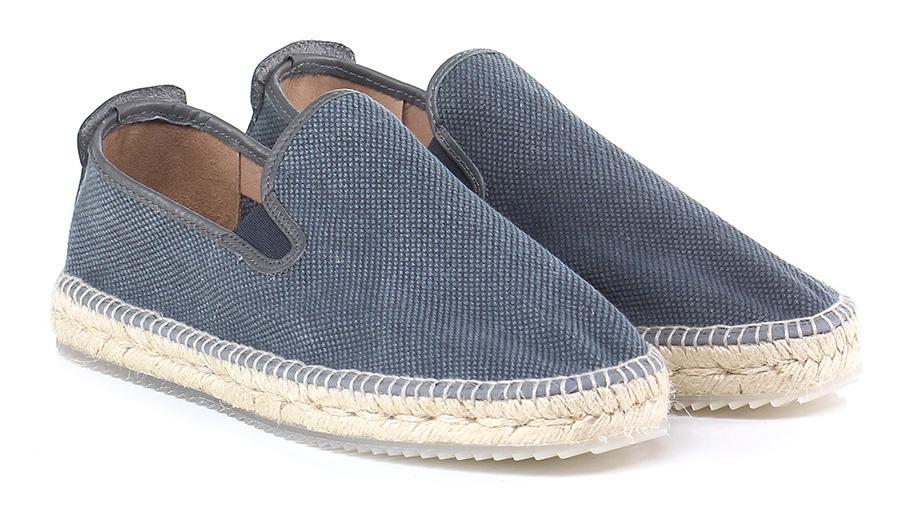 Senza stringhe Blu Espadrilles Verschleißfeste billige Schuhe