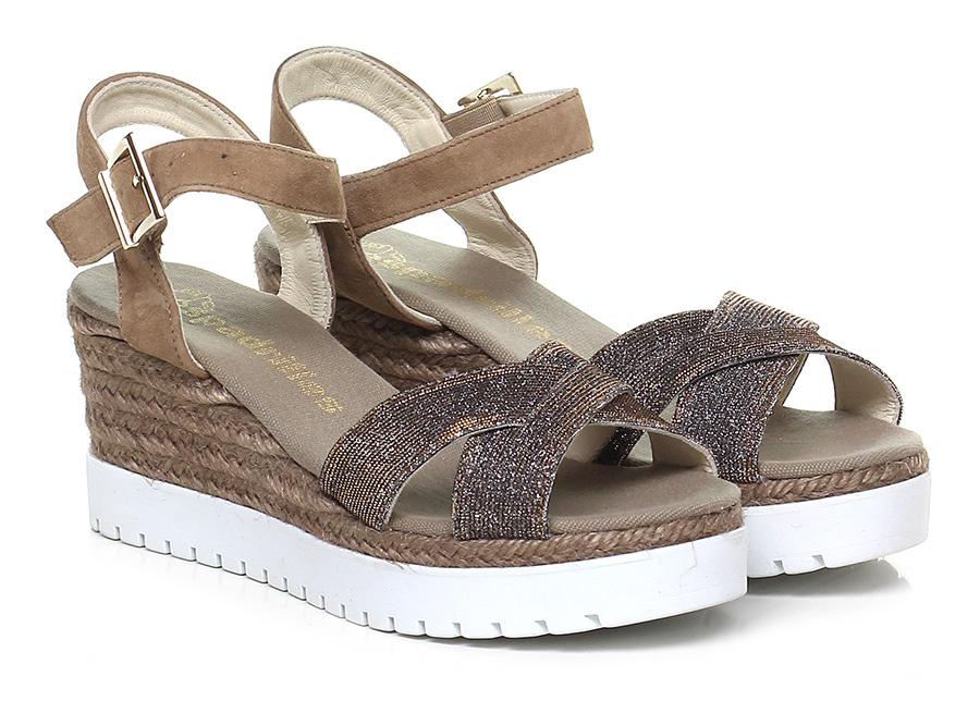 Zeppa Sabbia/argento/oro Espadrilles Verschleißfeste billige Schuhe