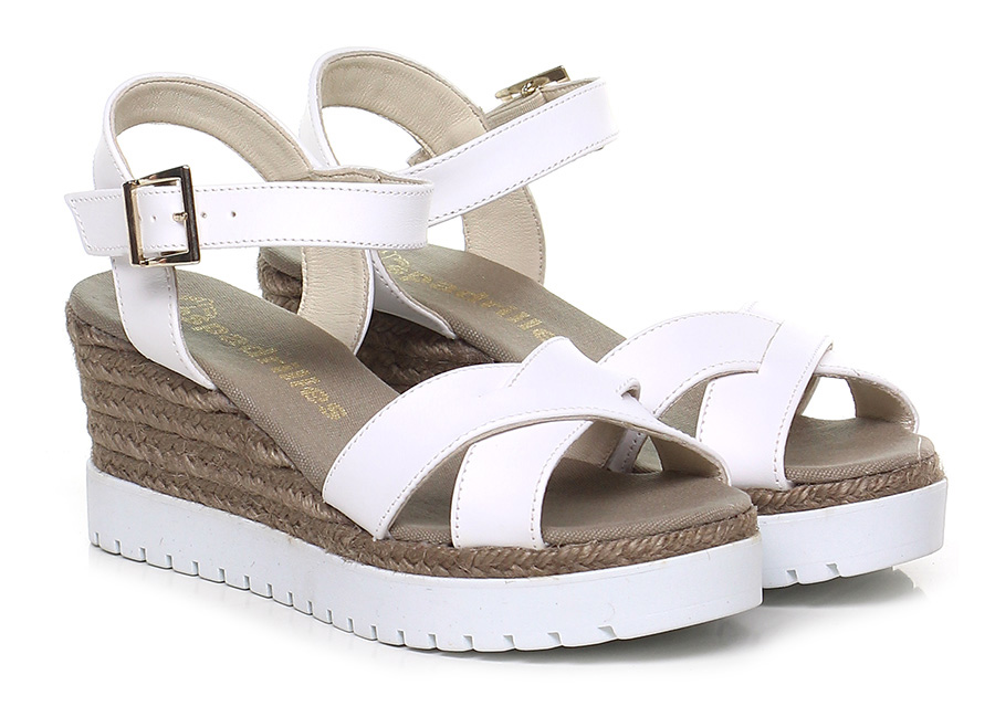 Zeppa Bianco Espadrilles Verschleißfeste billige Schuhe