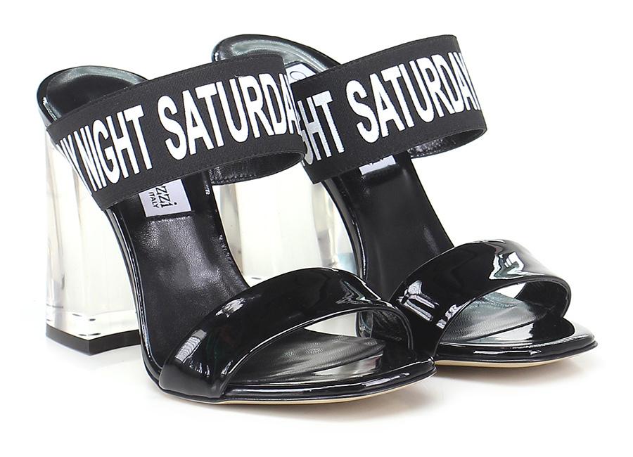 Sandalo alto Nero Giampaolo Viozzi Mode billige Schuhe
