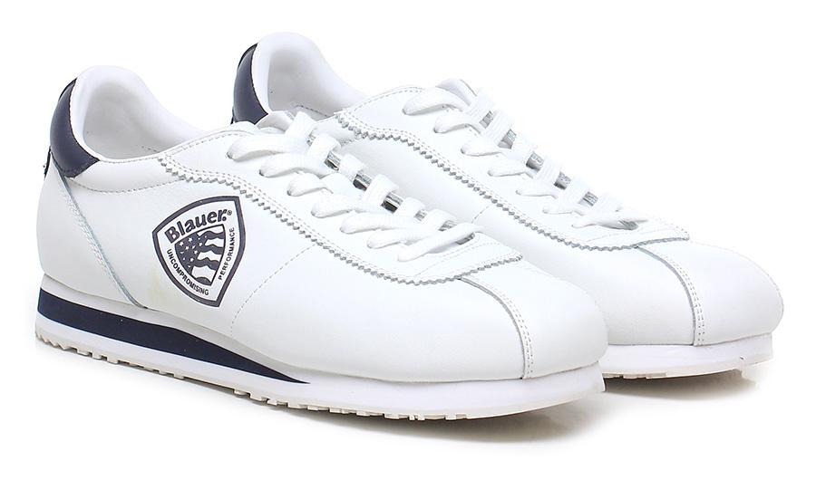 Sneaker White/blue Blauer Verschleißfeste billige Schuhe