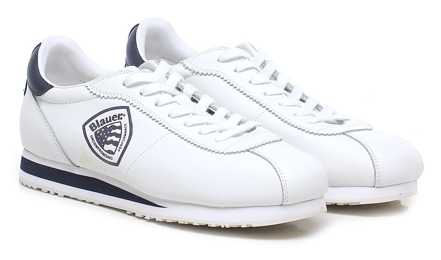 Sneaker White/blue Blauer