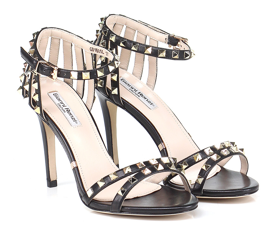 Sandalo alto  Nero Gianni Renzi Couture