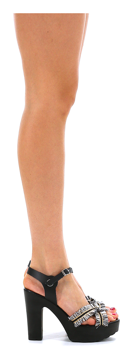 Sandalo alto  Gisele Nero/oro Gisele  Paris d0f8ac