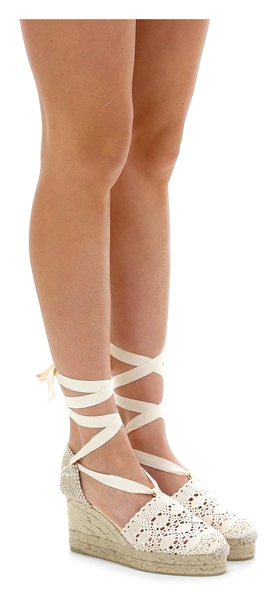 Zeppa Avorio/corda Castaner Verschleißfeste billige Schuhe