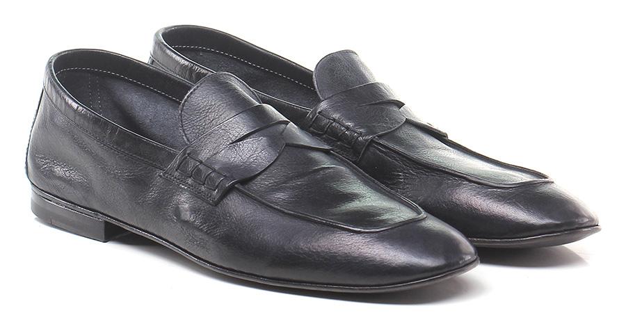 Mocassino Nero Roberto Guerrini Mode billige Schuhe