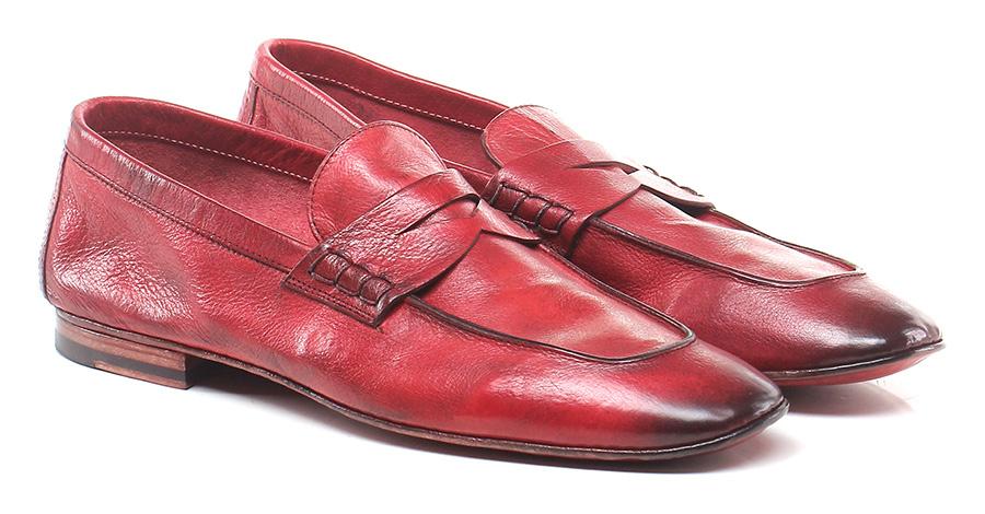 Mocassino Rosso Roberto Guerrini Mode billige Schuhe